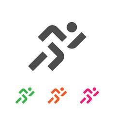 sport logo template running sportsman logotype vector image