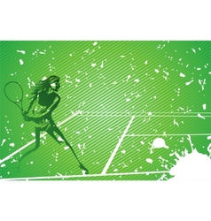 tennis illustration vector image