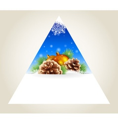 Triangular winter background vector