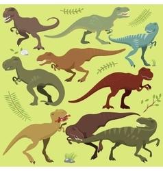Tyrannosaurus t-rex dinosaur vector image