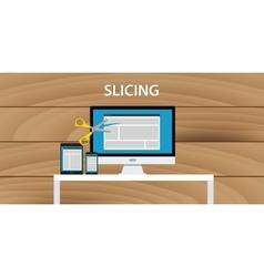 Web website slicing process development vector