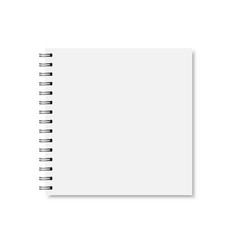 white realistic closed notebook cover vector image