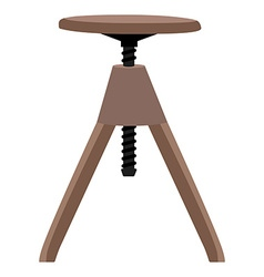 Wooden screw stool vector
