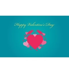 Love and bird valentine backgrounds vector