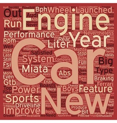 SC sports cars text background wordcloud concept vector image