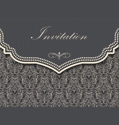 Wedding invitation and announcement vector
