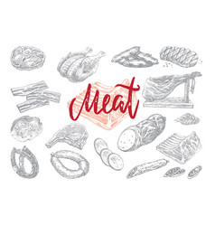 Hand drawn food collection vector