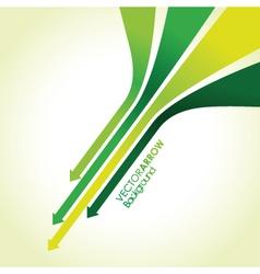 green arrow strips vector image