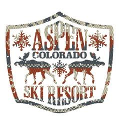 Aspen ski resort vector