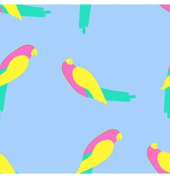 Parrot seamless pattern vector