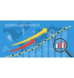 Background business improvement vector