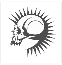 With punk skull vector