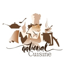 National cuisine drawing vector