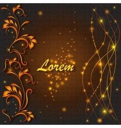 Shiny greeting ornamental pattern lights lines vector