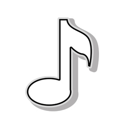 Music note icon graphic design vector
