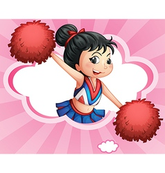 A cheerleader inside a cloud vector image vector image