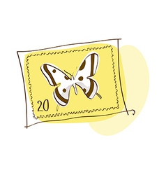 A stamp is placed vector image
