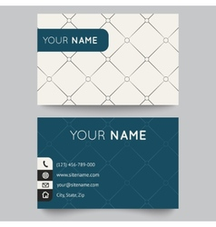 Business card template black and white pattern vector image
