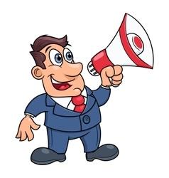 Businessman with megaphone vector