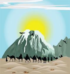 Caravan Camels vector image vector image
