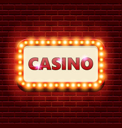 Casino retro banner template vector