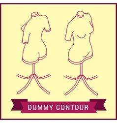 Contour dummy isometric manikin figure vector