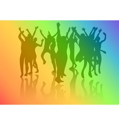dance crowd vector image