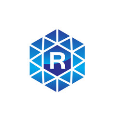 diamond initial r vector image
