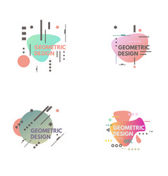 geometrical abstract background vector image