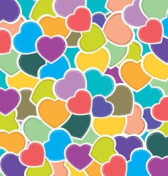 Heart pettern background colorful heart background vector