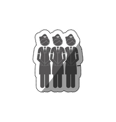 Isolated pictogram stewardess design vector
