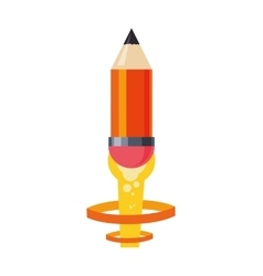 light bulb pencil rocket start up innovation icon vector image