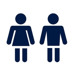 Man lady toilet icon vector