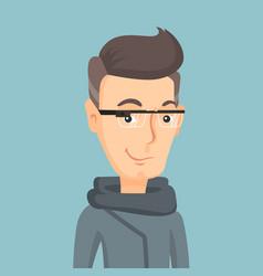 Man wearing smart glass vector