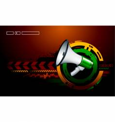 modern background megaphone vector image
