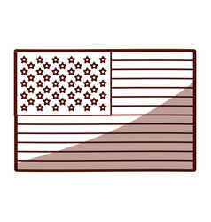 Monochrome silhouette of flag the united states vector
