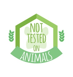 Not tested on animals label or logo vector