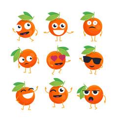 Oranges - isolated cartoon emoticons vector