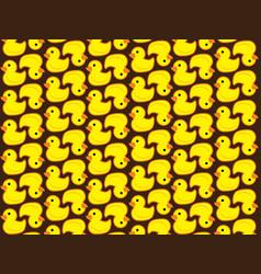 pattern duck vector image vector image
