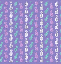 pineapple fruit seamless pattern vector image vector image