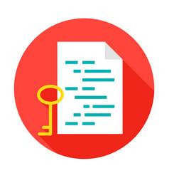 Program key circle icon vector