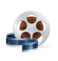 Realistic detailed cinema bobbin vector image