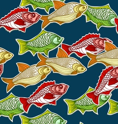 Seamless Fishes Background vector image vector image