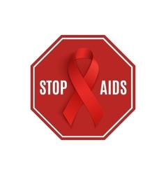 Stop aids sign vector