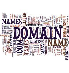 The mystery behind domain names text background vector