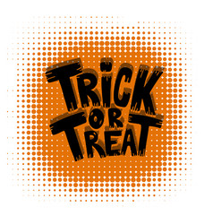 trick or treat halloween theme vector image vector image