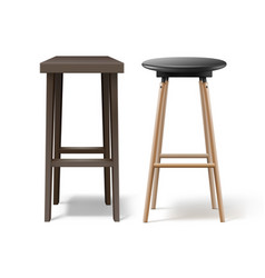 Two bar stools vector