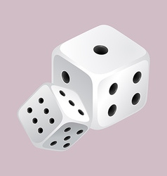Two dices with black dots vector image