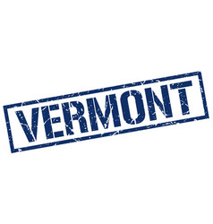 Vermont blue square stamp vector