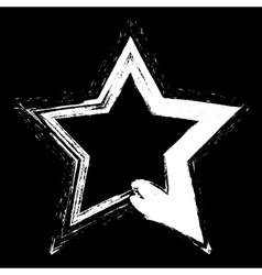 White Star Grunge vector image vector image